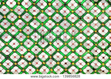 abstract colorful glass mosaic background, vintage style background