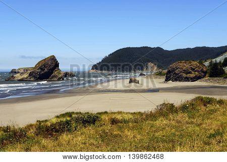 Coos Bay Coastline, Southern Oregon Coast, USA
