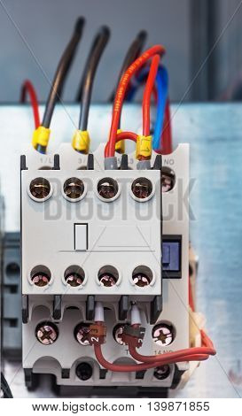 Electrical protection relays, mounted in the electrical cabinet.