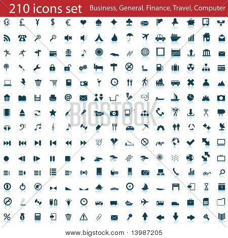 Biggest collection of different icons for using in web design poster