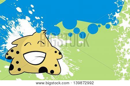 funny monster cartoon background in vector format very easy to edit