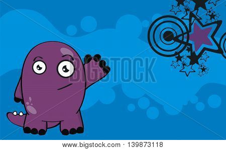 funny dinosaur cartoon background in vector format very easy to edit