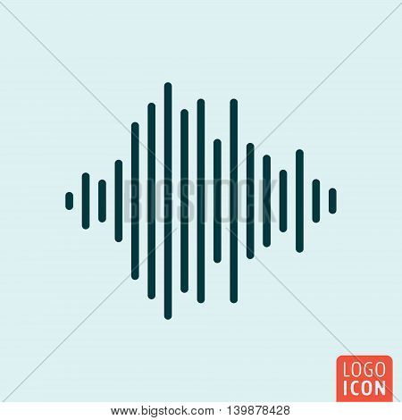 Sound wave icon. Audio equalizer symbol. Vector illustration