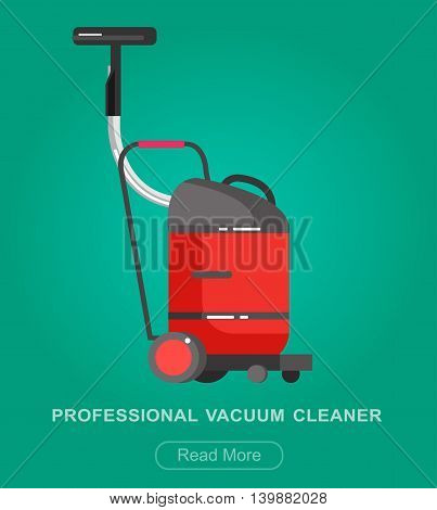 detailed professional vacuum cleaner icon. Vector illustration.