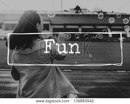 Fun Amusing Happiness Enjoyment Concept