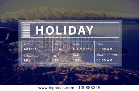 Holiday Travel Tourism Relaxation Graphic Concept