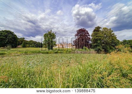 Serene Surrey county landscape setting on a summer's day