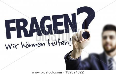 Questions? We Can Help (in German)