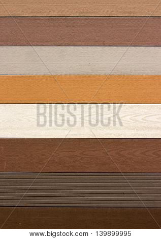 Close Up Of Vinyl Siding Samples