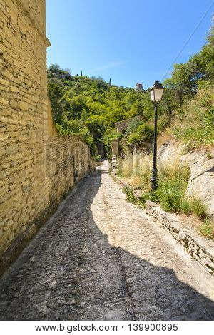 Old Road In The Village Of Gordes, Luberon, France
