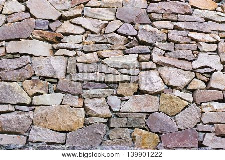 Stone Wall Of Quarry Stone Violet Background