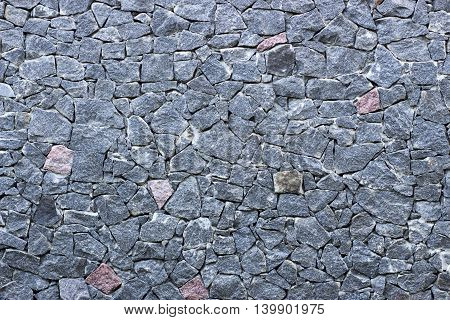 Wall Of Granite Blue Rubble Texture