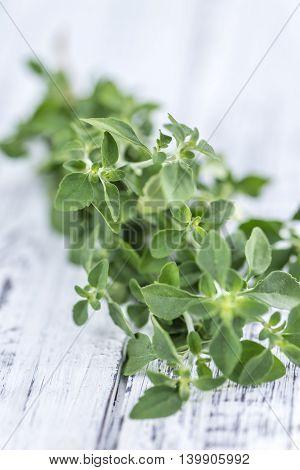 Menthol Leaves On Wooden Background