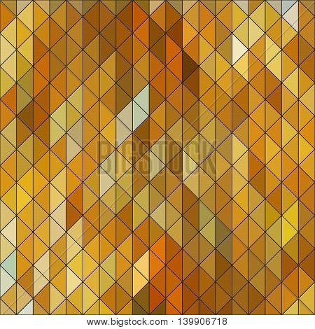 Geometric elegant gold yellow triangle sapphire diamond pattern. Seamless golden bronze structure