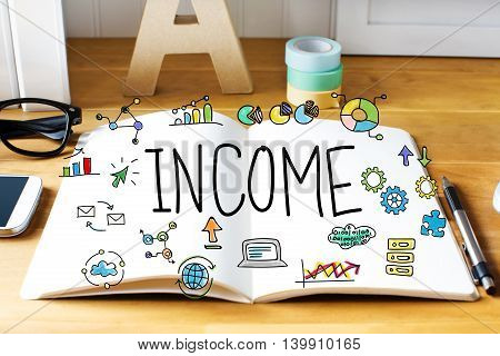 Income Concept With Notebook