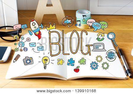 Blog Concept With Notebook