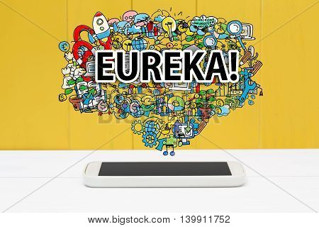 Eureka Concept With Smartphone