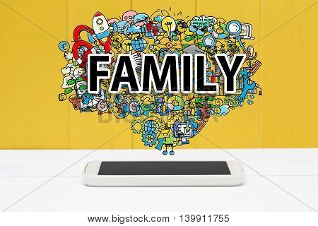 Family Concept With Smartphone