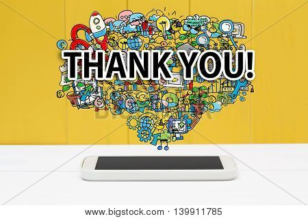 Thank You Concept With Smartphone