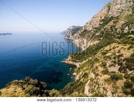 Aerial View of Amalfi Coast, Italy