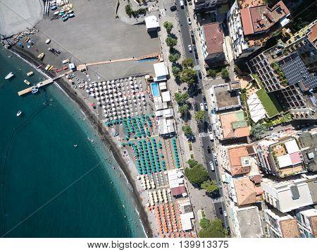 Top View of Maiori, Amalfi coast, Italy