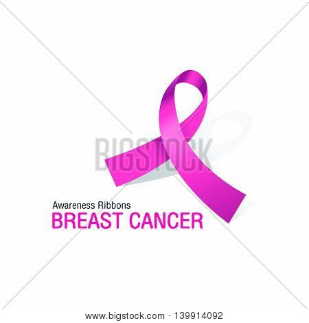 The Pink Awareness Ribbons of Breast cancer Vector illustration.