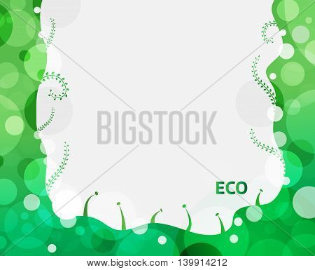 Abstract green leaves background that have space for your text.
