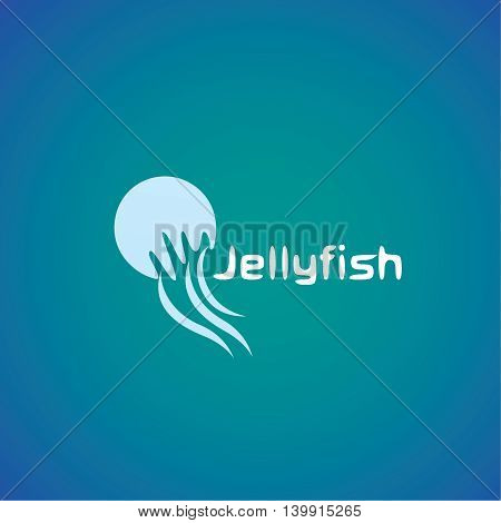 jellyfish  logo ideas design vector illustration on background