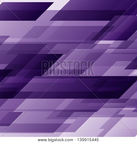 Abstract purple rectangles technology distorted background, stock vector