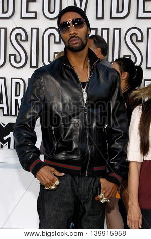 RZA at the 2010 MTV Video Music Awards held at the Nokia Theatre L.A. Live in Los Angeles, USA on September 12, 2010.