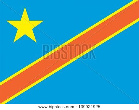 Vector Democratic Republic of the Congo flag