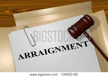 Arraignment - Legal Concept