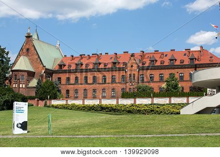 CRACOW; POLAND - JULY 22; 2016: The Divine Mercy Sanctuary in Lagiewniki; Cracow; Poland
