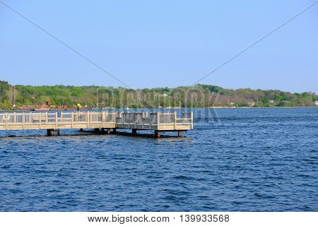 Marina on Betsie Lake at Frankfort, MI, USA