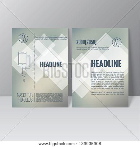 Brochure annual report. Cover for journal, book, magazine. Leaflet Flyer A4 size template design. Layout illustration poster, booklet, postcard. Vector. title flier headline