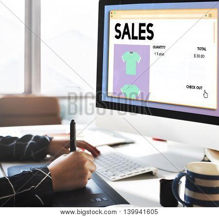 Sales Commerce Income Profit Margin Retail Sell Concept