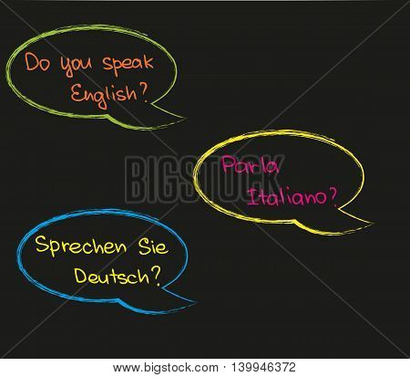The way how to ask questions about foreign language