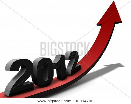Positive outlook for the business year 2012 poster