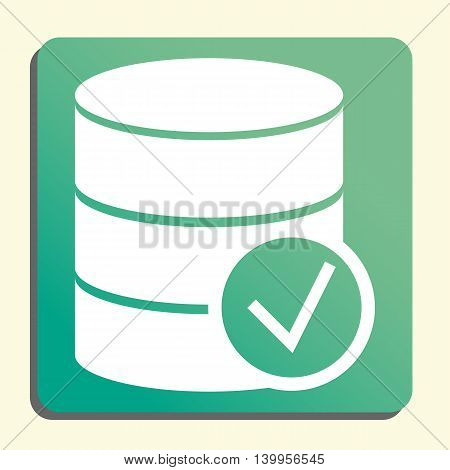 Database Accept Icon In Vector Format. Premium Quality Database Accept Symbol. Web Graphic Database