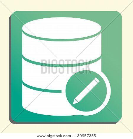 Database Edit Icon In Vector Format. Premium Quality Database Edit Symbol. Web Graphic Database Edit