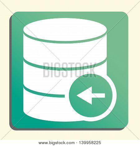 Database Left Icon In Vector Format. Premium Quality Database Left Symbol. Web Graphic Database Left