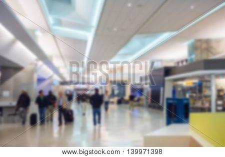 Abstract blur of  San Francisco International Airport