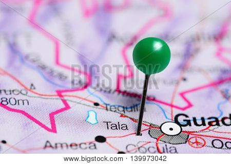 Tala pinned on a map of Mexico