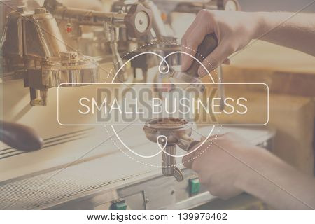 Business concept. Inspirational typographic quote about small business