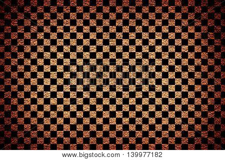 Brown Revetment Wall Putty Vignetting Effect Texture Black Squares Styled
