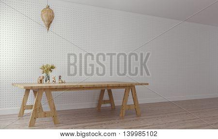 Modern & Loft Living / Working / 3d Render Image