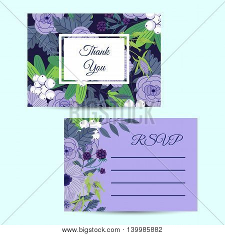 Flowers invitation vector photo free trial bigstock flowers invitation design template to celebration on business card with flower decoration vector illustration vintage flowers in modern style reheart Gallery