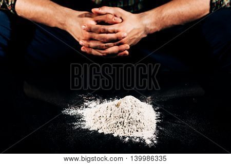 Closer look to one bad habit such as drug addiction on cocaine