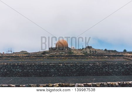 Canary Island Spain - June 29 2014: The observatory of Lanzarote.