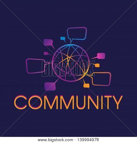 Online Hosting Network Communication Company Logo Vector